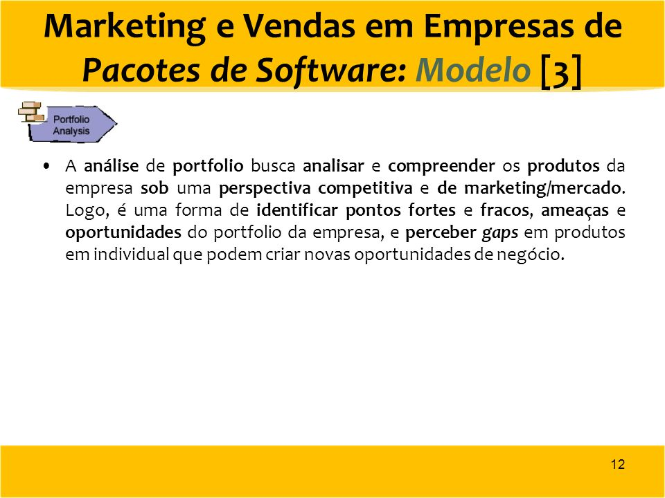 Marketing e Vendas em Empresas de Pacotes de Software: Modelo [3]